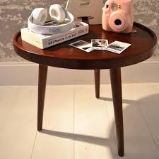 Wooden Side Table Egg Shape Wooden Side Table By Beba Home Notonthehighstreetcom