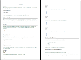 How To Write In Resume Simple Format Microsoft Word 2007 A On
