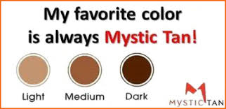 Fake Tan Colour Chart Mystic Tan Sun City Tanning