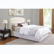 tufted wingback bed king  bed furniture decoration