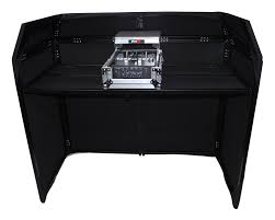prox xf mesa bl dj booth with black white scrims