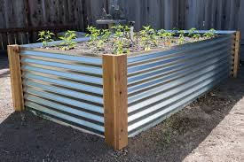 corrugated metal garden beds. Modren Corrugated DIY Corrugated Metal Raised Beds Featured Throughout Garden R