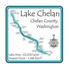 Lake Chelan Depth Chart Lake Chelan Laser Etched Cribbage Board Chelan Wa 23cm