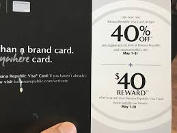 Targeted Banana Republic Gap Old Navy Credit Cards 11 Reward