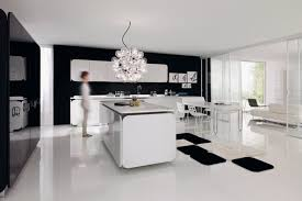 white kitchen lighting. From: Luxury Black And White Kitchen With Modern Lighting Effect \u2013 IT-IS