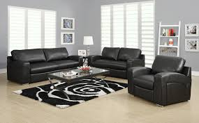 Remarkable Black Leather Living Room Set Ideas Modern Leather