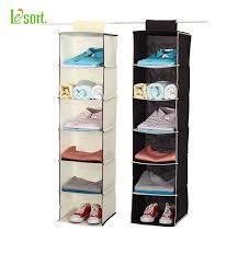 hanging closet organizer. Wonderful Hanging Household Essentials 6Shelf Hanging Closet Organizer Shelves Natural  Nonwoven On