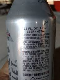 Coors Light Nutrition Facts 16 Oz