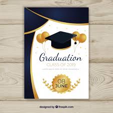 Graduation Announcements Template Graduation Invitation Template With Flat Design Vector