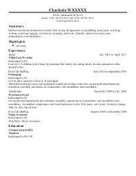 ... Furniture Assembler Resume by Wall Decor Production Associate Mat  Cutter And Assembler Resume Exle Ethan Allen ...