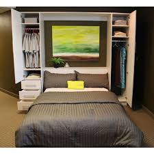 murphy bed with white pax wardrobes from ikea