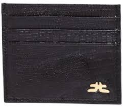 Laveri Card and Bill Holder Wallet for Unisex - Leather, Black