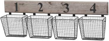 chic antique old wall rack with 4 metal