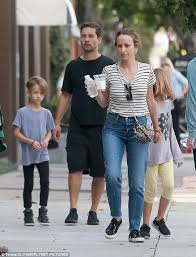 over tobey maguire and jennifer meyer pictured here with son otis and daughter ruby