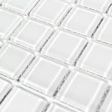 glass mosaic tile backsplash for decorative materials square super white crystal kitchen wall tiles bathroom shower