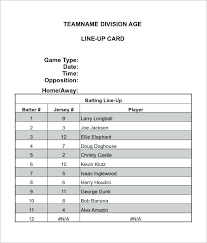 Baseball Roster Template Beauteous Baseball Lineup Excel Template Roster Runticinoartelaniniorg