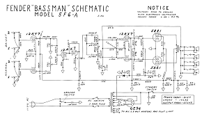 marshall schematics bassman tweed 5f6 a amp schematic fender