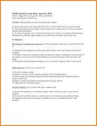 Custody Agreement Template Art Resume Examples