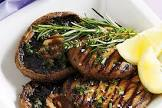 barbecued garlic and herb mushrooms