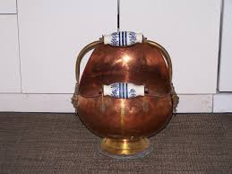 rare antique copper ash bucket central ottawa inside