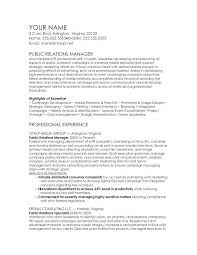 Sample Public Relations Resume | Cvfree.pro