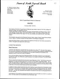 North Topsail Beach Board Of Aldermen Minutes Pdf Free