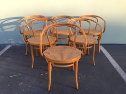 rare epic set of 6 stendig thonet bentwood chairs rare complete set of vintage bentwood