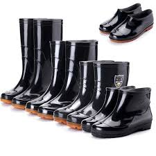 Rain boots <b>Four seasons men's</b> rain boots keep warm, <b>low</b>-<b>cut</b> mid ...