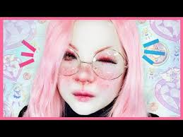 cute easy bunny makeup tutorial 白塗りメイク うさぎ shironuri makeup tutorial 12
