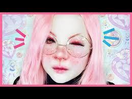 cute easy bunny makeup tutorial 白塗りメイク うさぎ shironuri makeup tutorial 12