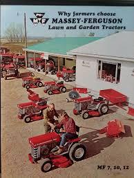 details about massey ferguson mf 7 10 12 lawn garden tractor implements color s brochure