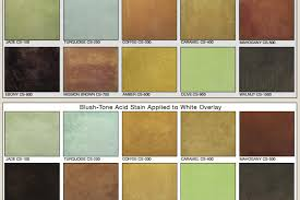 Brickform Acid Stain Color Chart Brickform Acid Stain