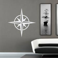 compass rose wall decal nautical stickers ocean wall decal