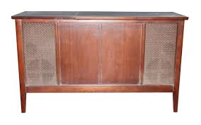 Antique Record Player in Wooden Cabinet