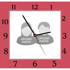 customized wall clocks square shape
