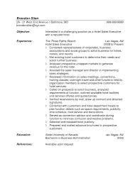 Hotel Sales Manager Resume Catering Sample Senior Cover Hospitality