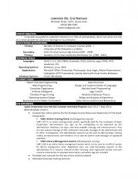 Computer Science Student Resume Good Service Resume Resume