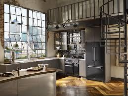 Industrial Kitchen Modern Industrial Kitchen Design With Nice White Flooring Lanierhome