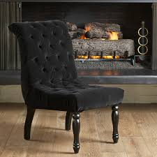 artistic innovative velvet accent chair with silent tufted black black accent chairs