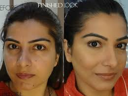 contour and highlight your face before after