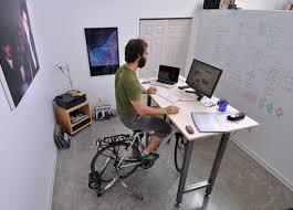home office standing desk. 7 bike trainer at desk 1 home office standing