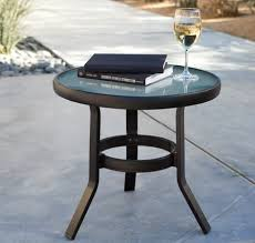 round small patio side table