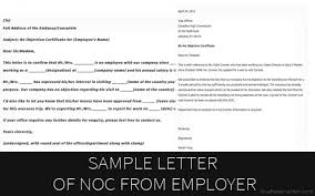 letter of non objection sample letter of no objection certificate from employer visa