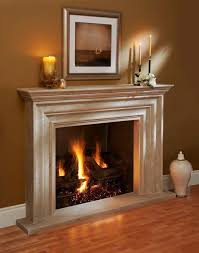 Omega Fireplace Mantel of Stone in Miami traditional-living-room