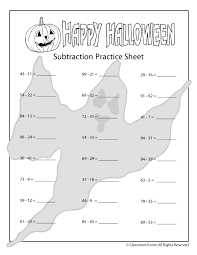 halloween math worksheets double digit halloween subtraction ...