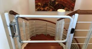Office Stairs Self Closing Stair Gates For An Office Environment Simplified Safety