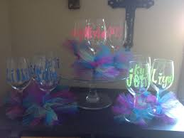decorative acrylic wine glasses. Perfect Decorative Plastic Wine Glasses Personalized U0026 Decorated With Paint Pens And Tulle  Ribbon  On Decorative Acrylic Wine Glasses