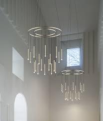 led tubular suspended pendant with