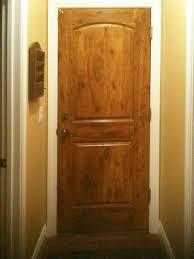 clear alder door faux knotty alder