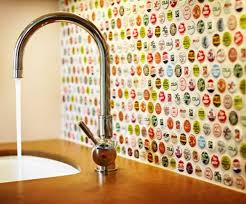 bottle cap furniture. bottle cap backsplash furniture